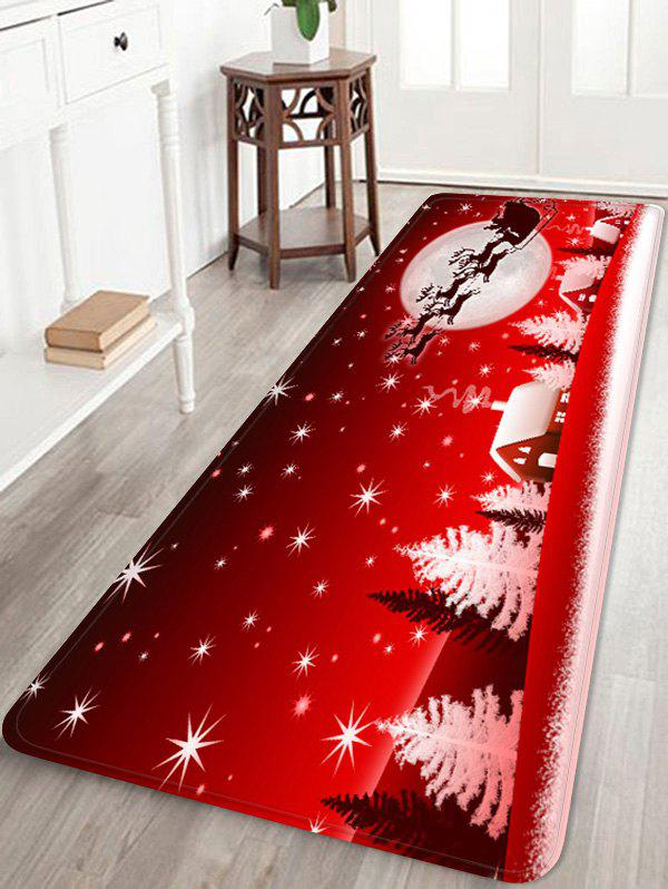 Outfit Christmas Snow Printed Non-slip Area Rug