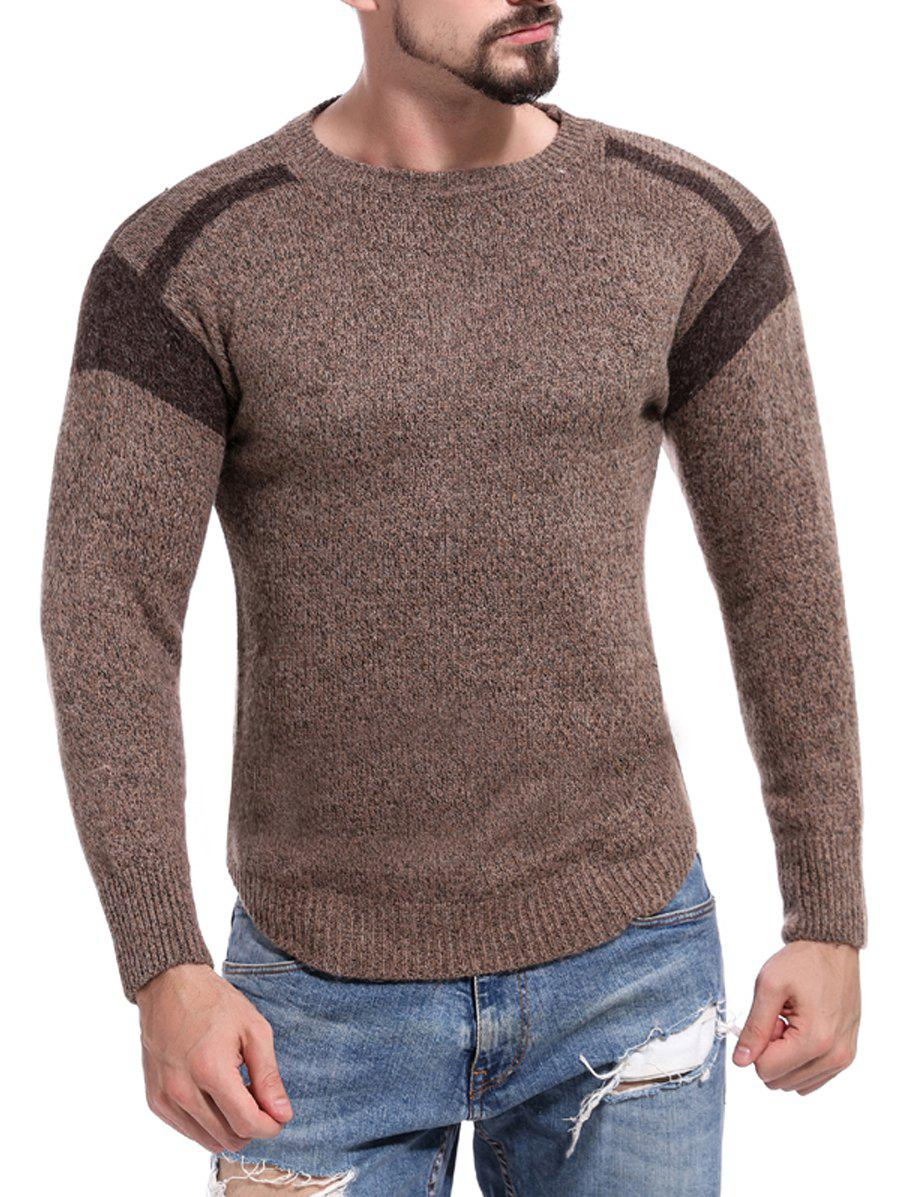 Latest Casual Color Block Pullover Sweater
