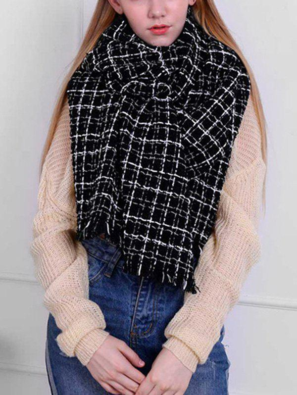 Discount Stylish Plaid Oversized Warm Shawl Scarf