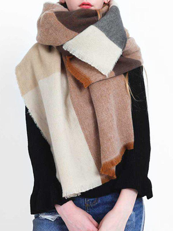 Store Winter Color Block Oversized Shawl Scarf
