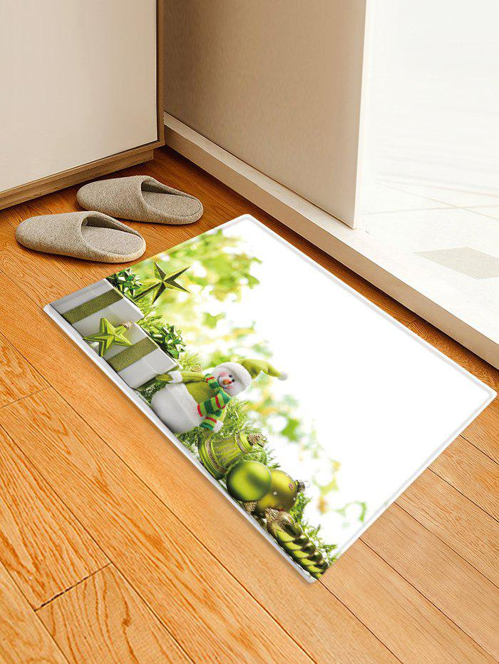 Latest Christmas Gifts Balls Pattern Anti-skid Water Absorption Area Rug