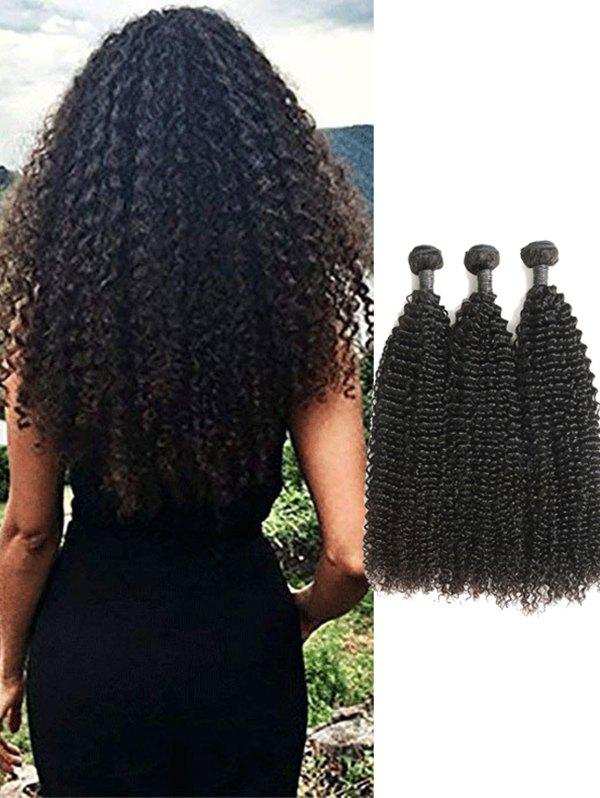 2018 3pcs Real Human Hair Kinky Curly Malaysian Hair Weaves In