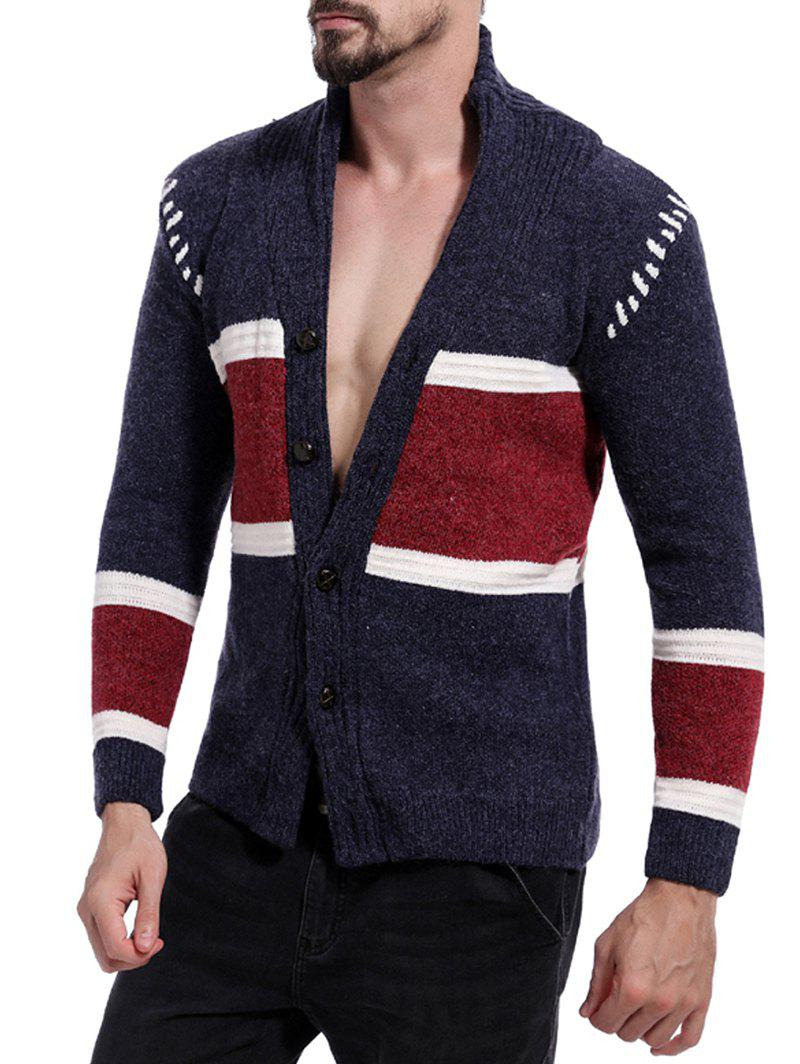 3f1f52ee2a Fashion Color Block Space Dye Button Up Cardigan