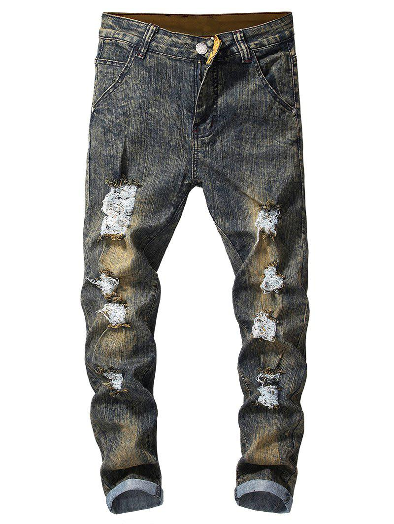 Store Vintage Ripped Faded Jeans