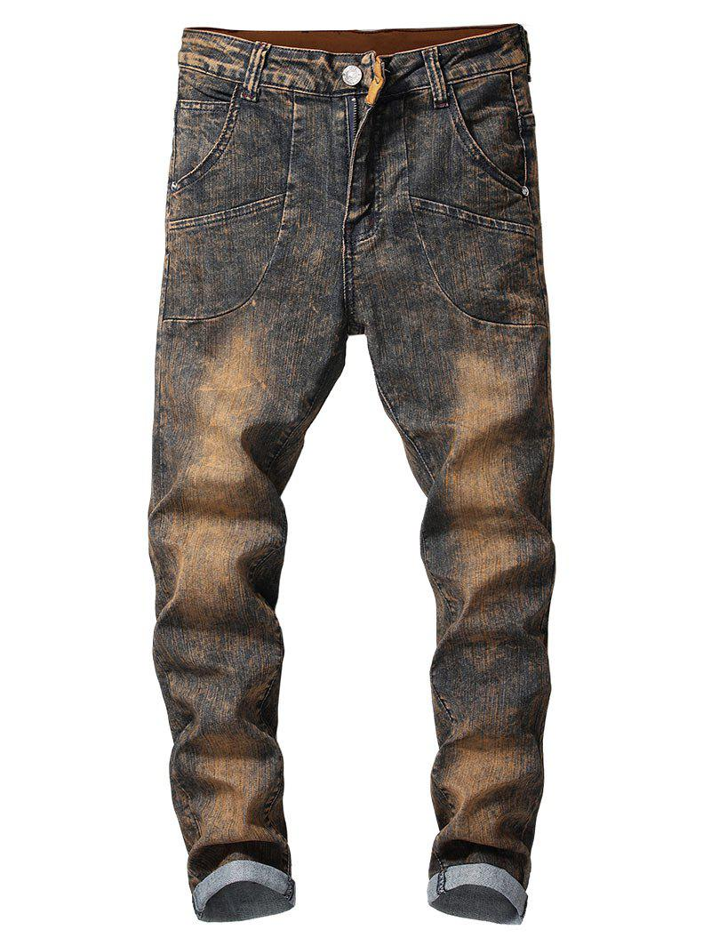 Fashion Vintage Faded Casual Jeans