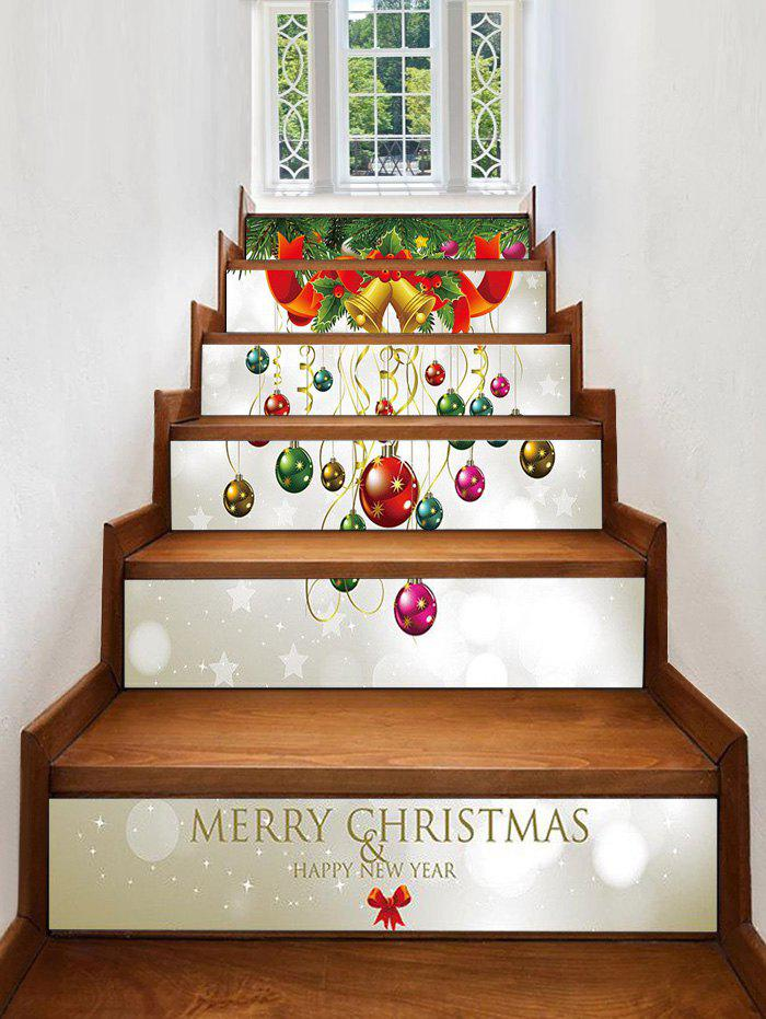 Chic Christmas Balls Bells Pattern Decorative Stair Stickers