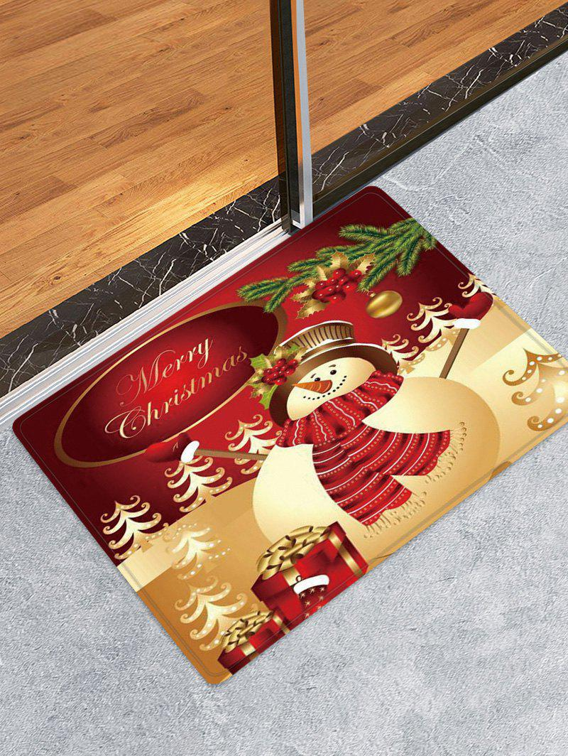 Fashion Christmas Snowman Gifts Pattern Anti-skid Water Absorption Area Rug