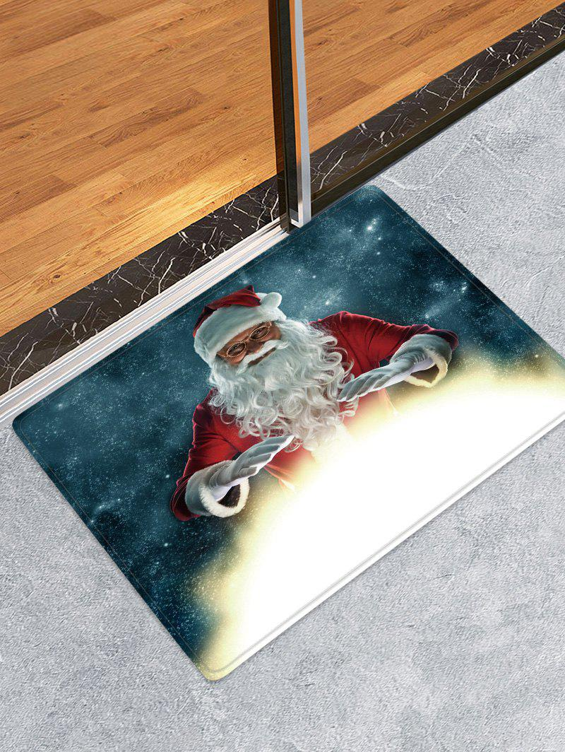 Unique Christmas Santa Claus Pattern Water Absorption Anti-skid Area Rug