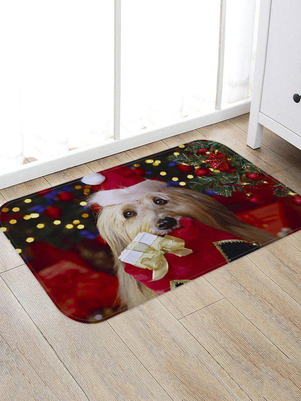 Affordable Christmas Dog Pattern Anti-skid Water Absorption Area Rug