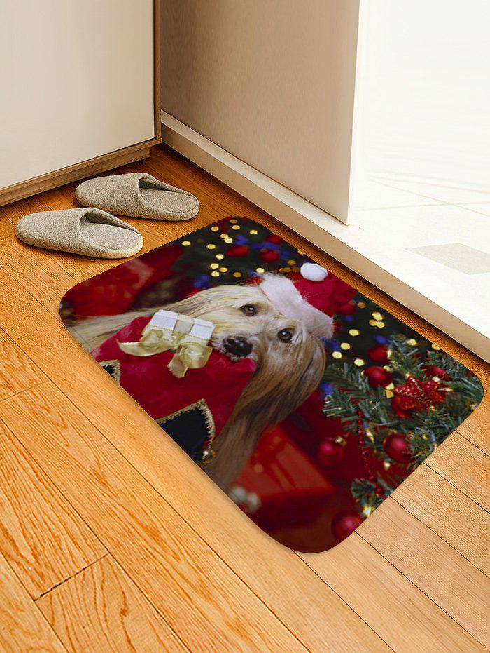 Discount Christmas Dog Pattern Anti-skid Water Absorption Area Rug