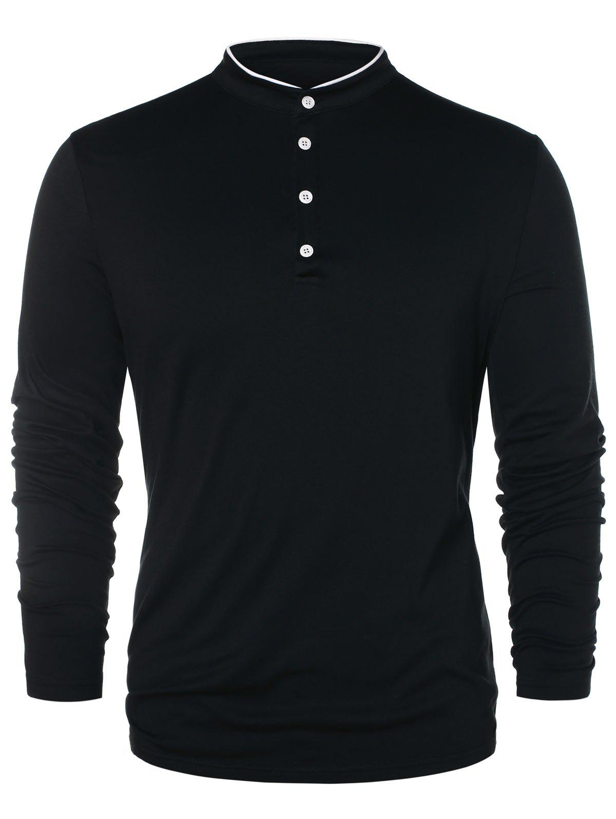 Shop Half Button Long Sleeve T-shirt