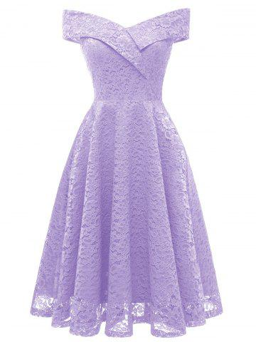 Purple Off The Shoulder Dress - Free Shipping 9842bb2e6d36