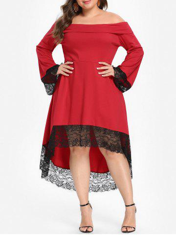 Shoulder | Dress | Lace | Plus | Size | Off