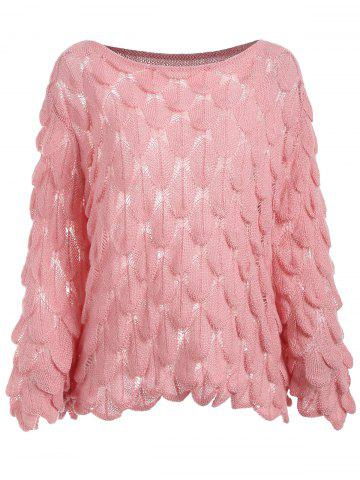 Bell Sleeve Fish Scale Sweater