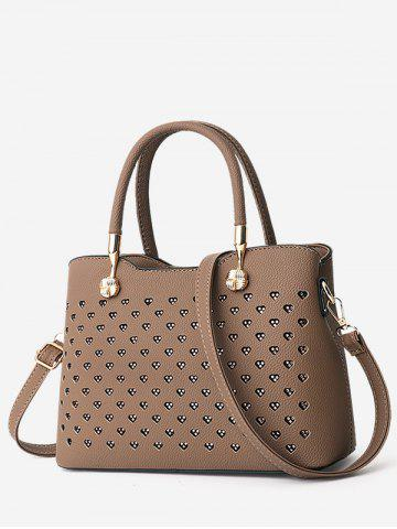 5b22144bc6 Hollow Heart Design Tote Bag