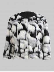 Faux Fur Fluffy Short Coat -