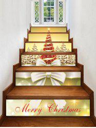 Christmas Tree Forest Pattern Stair Stickers -