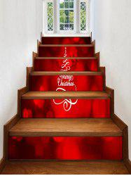Merry Christmas Tree Pattern Stair Stickers -