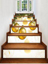 Christmas Hanging Ball Pattern Decorative Stair Stickers -