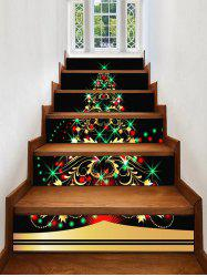 Christmas Tree Light Pattern Decorative Stair Stickers -