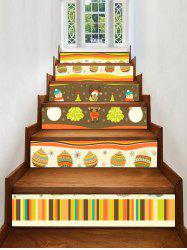 Christmas Theme Pattern Decorative Stair Stickers -
