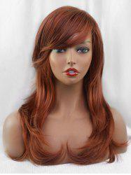 Inclined Bang Long Layer Straight Party Synthetic Wig -
