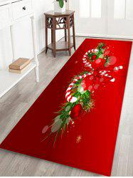 Christmas Candy Cane Printed Decorative Floor Mat -