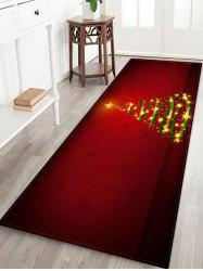 Christmas Tree Printed Decorative Floor Mat -