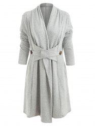 Button Long Duster Cardigan -