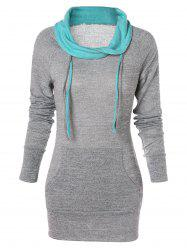 Kangaroo Pocket Fitted Tunic Sweatshirt -