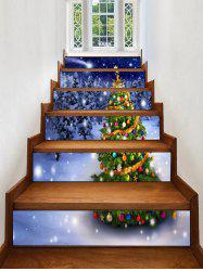 Christmas Tree Forest Pattern Decorative Stair Stickers -