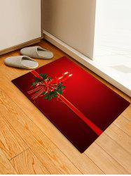 Christmas Candle Printed Decorative Floor Mat -