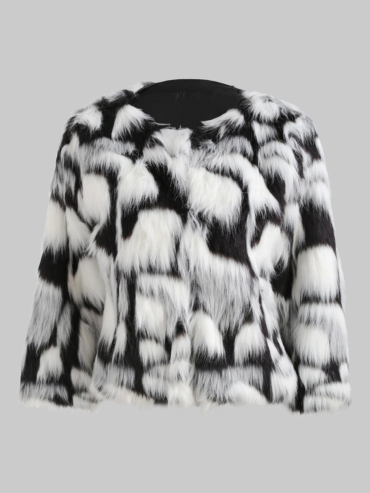 Chic Faux Fur Fluffy Short Coat