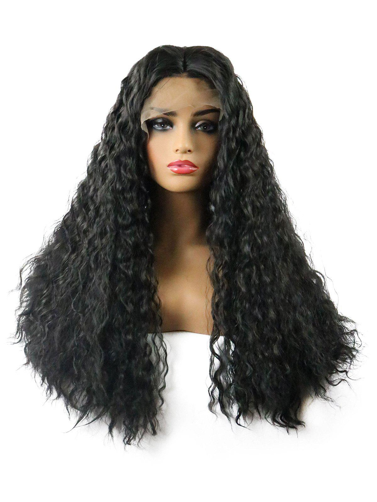 Fashion Long Middle Part Water Wave Lace Front Synthetic Wig