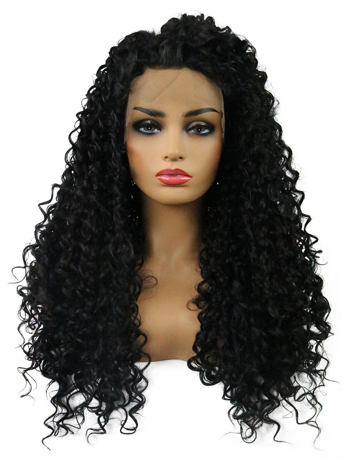 Affordable Long Curly Heat Resistant Synthetic Fiber Lace Front Wig