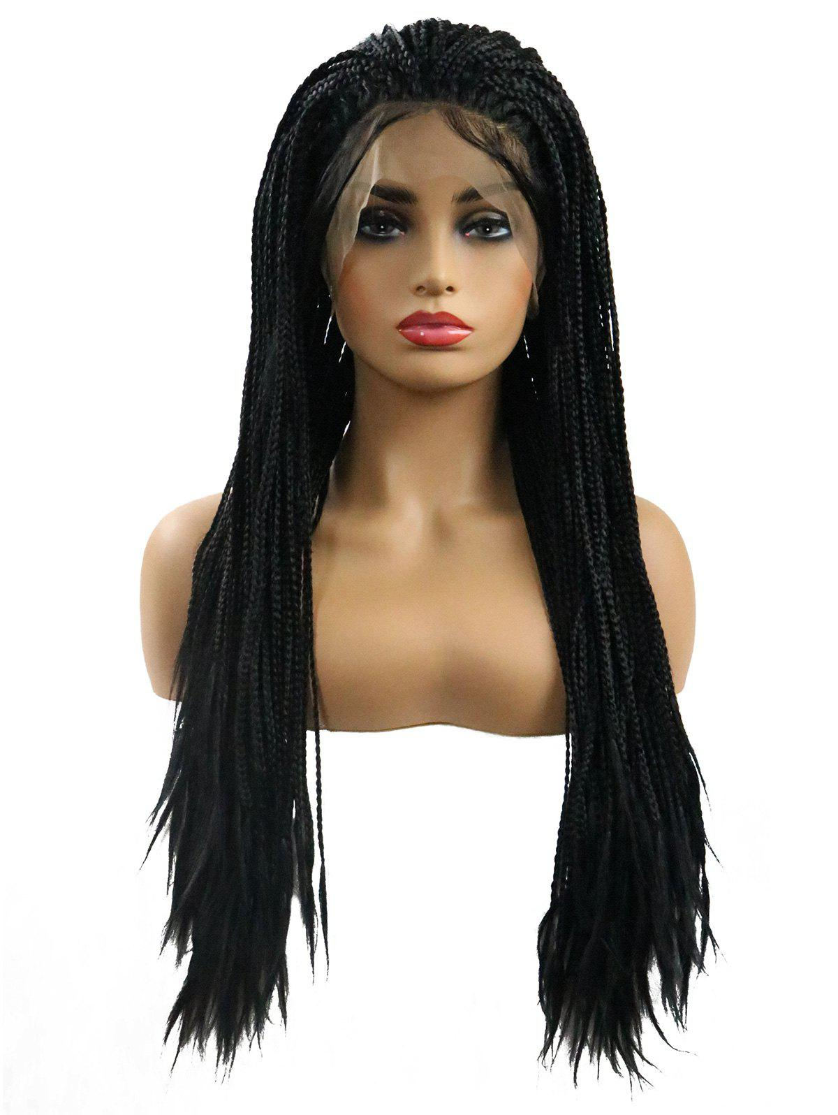 Outfits Long Free Part Micro Braids Lace Front Synthetic Wig