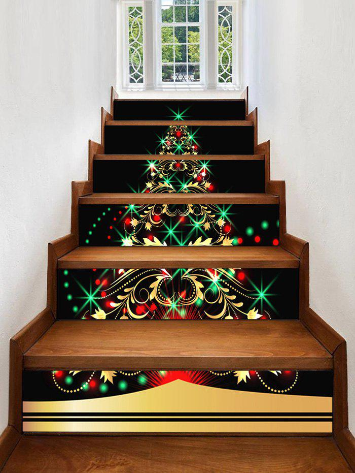 Best Christmas Tree Light Pattern Decorative Stair Stickers