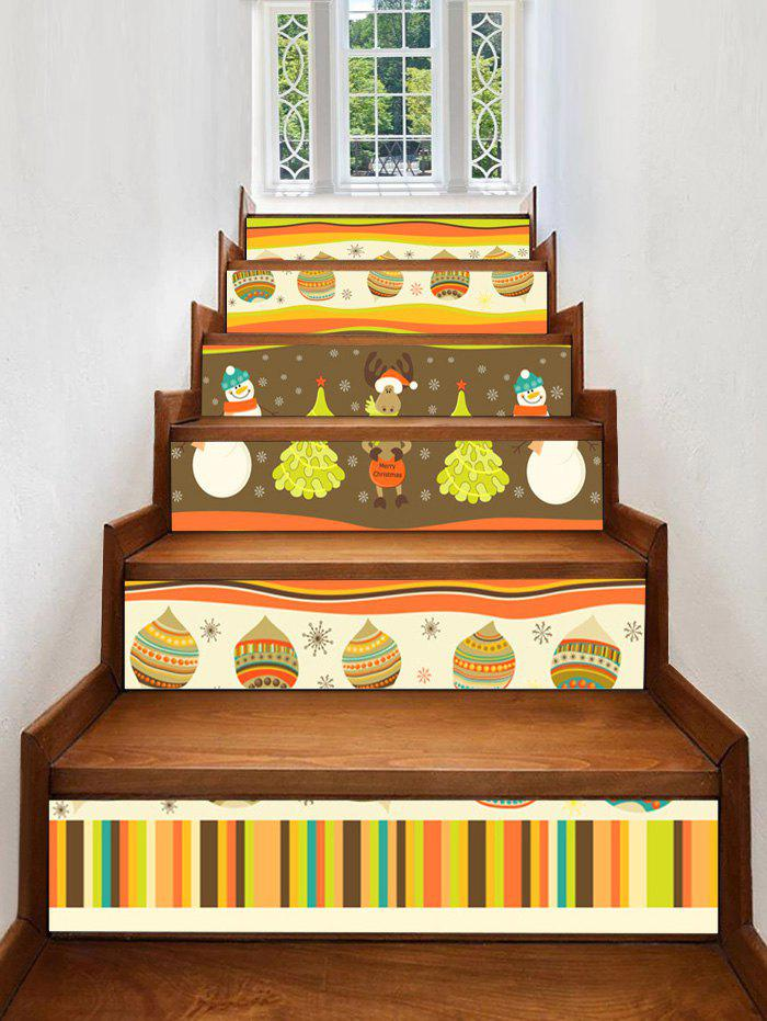 Outfit Christmas Theme Pattern Decorative Stair Stickers