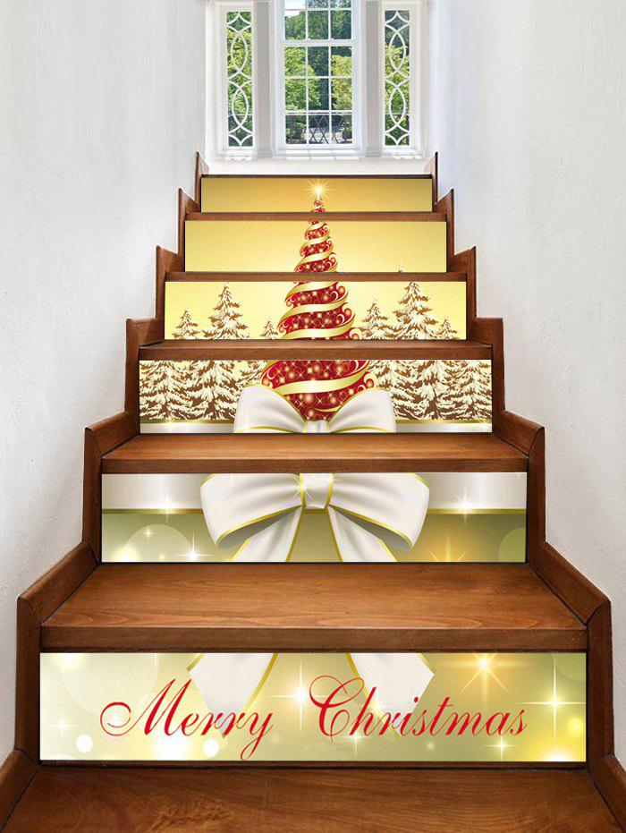 Discount Christmas Tree Forest Pattern Stair Stickers