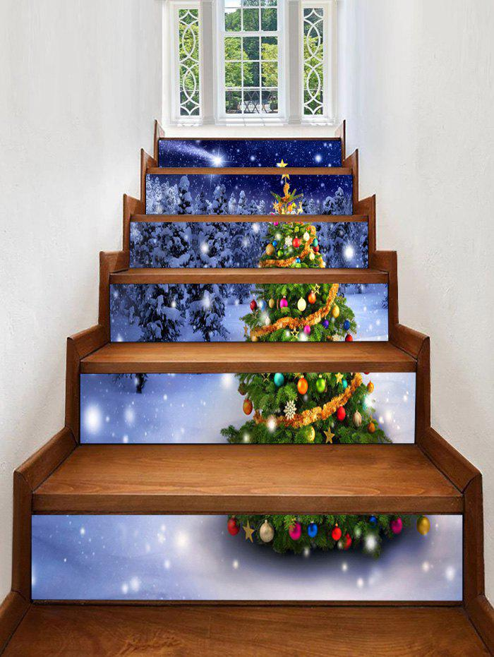 Cheap Christmas Tree Forest Pattern Decorative Stair Stickers