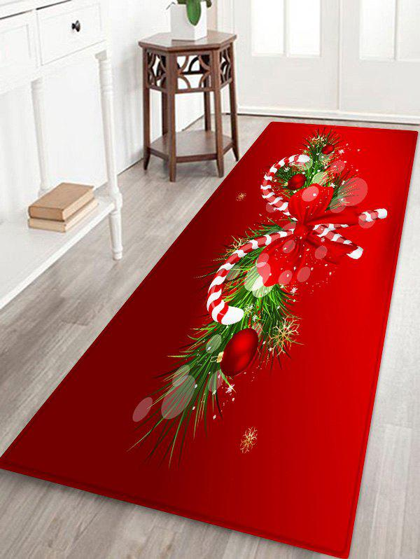 Buy Christmas Candy Cane Printed Decorative Floor Mat
