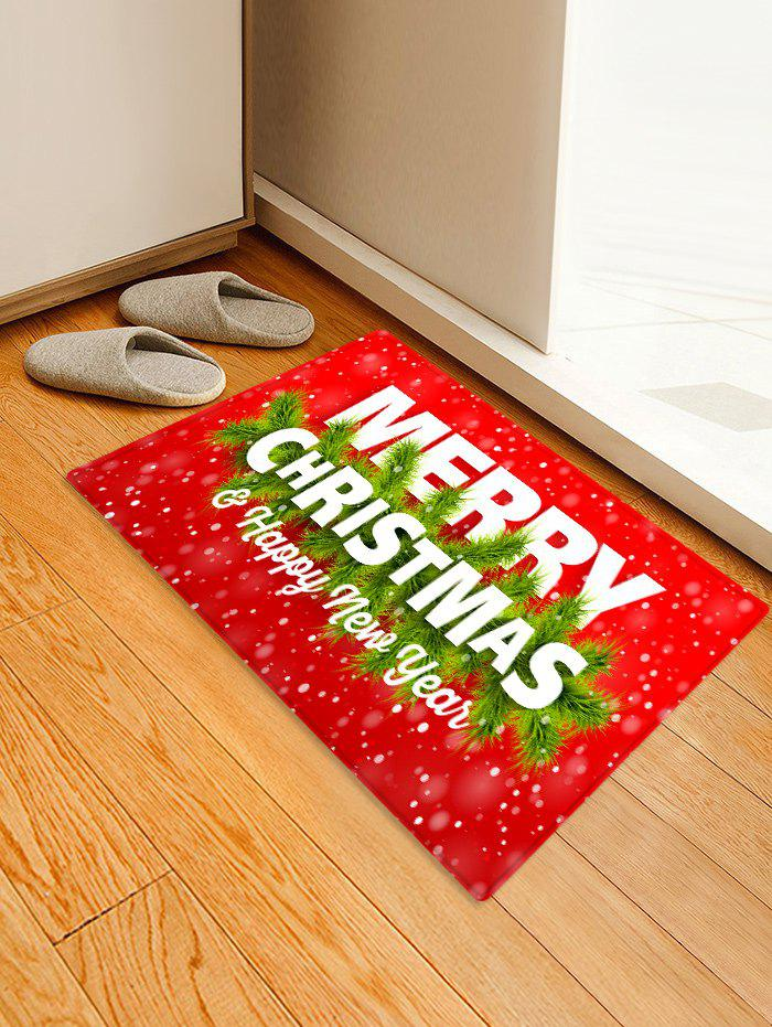 Affordable Merry Christmas Printed Decorative Floor Mat