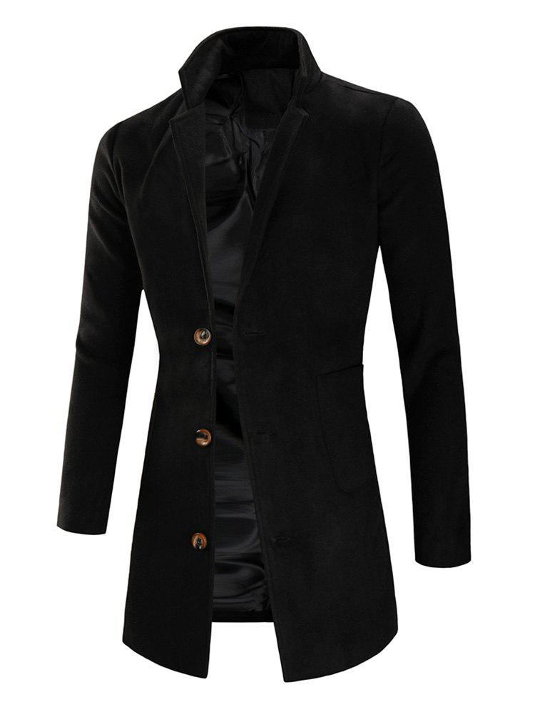 Fashion Lapel Collar Single Breasted Longline Coat