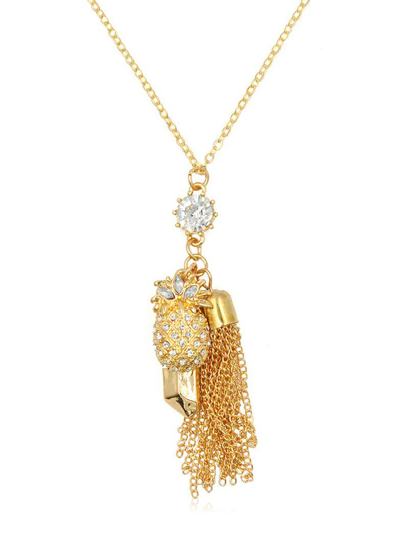 Affordable Rhinestone Pineapple Fringed Alloy Necklace