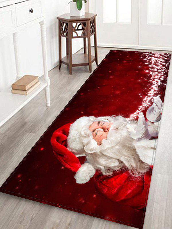 Fancy Magic Father Christmas Printed Floor Mat