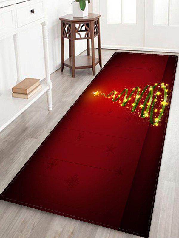 Affordable Christmas Tree Printed Decorative Floor Mat