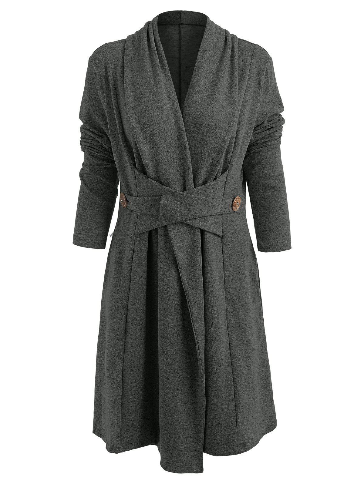 Store Button Long Duster Cardigan