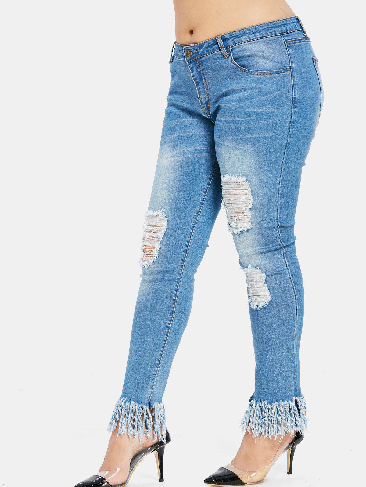 Shop Distressed Plus Size Skinny Jeans