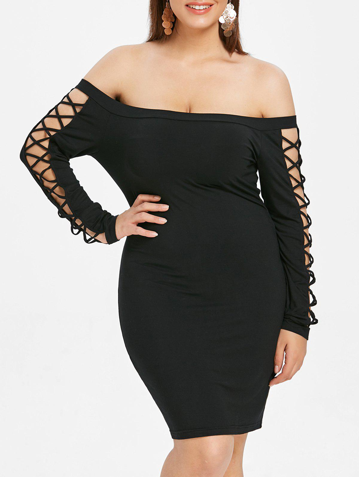 Outfit Plus Size Criss-cross Bodycon Dress