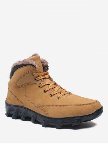Lace Up Warmth Fleece Outdoor Shoes
